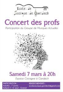 Concert des profs - Ecole de Musique