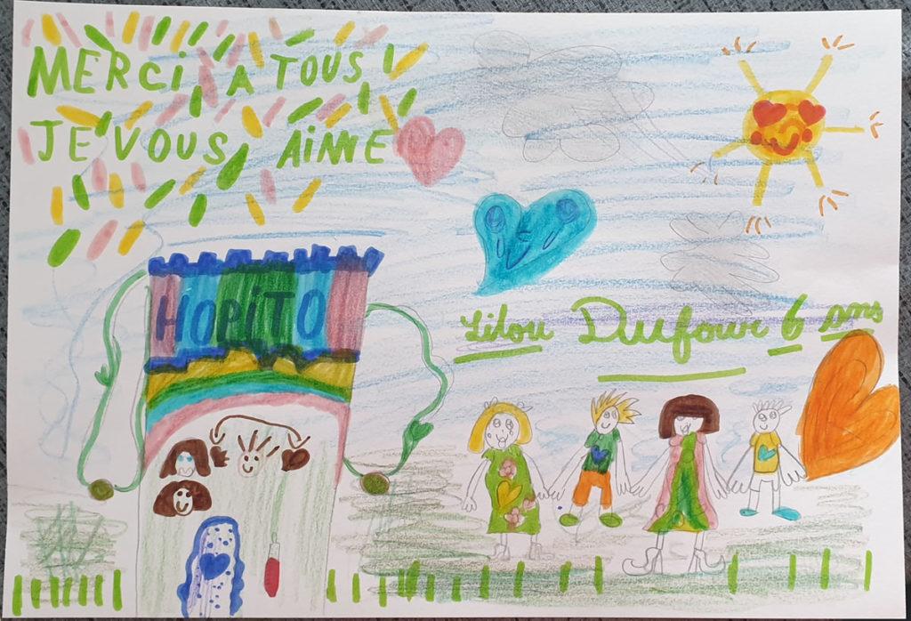 Un dessin pour dire merci - Lilou
