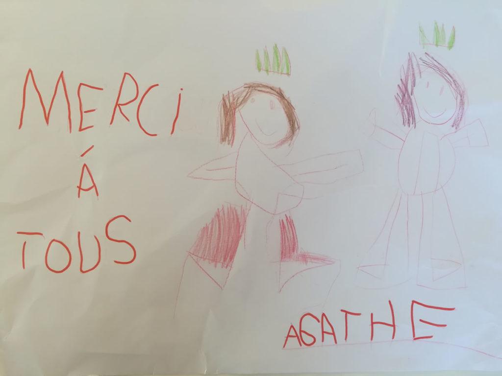 Un dessin pour dire merci - Agathe (MS)