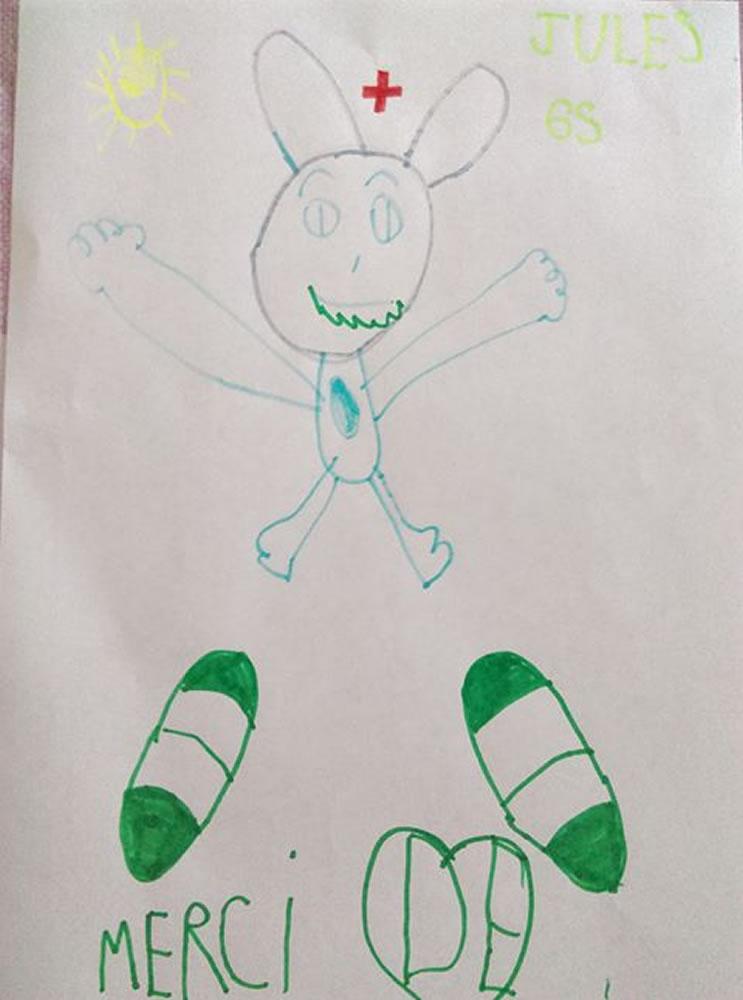 Un dessin pour dire merci - Jules (5 ans)