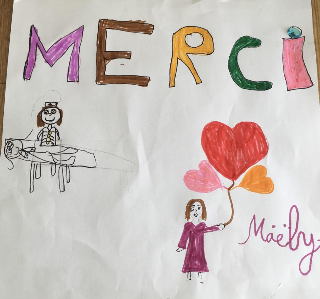 Un dessin pour dire merci - Maëly