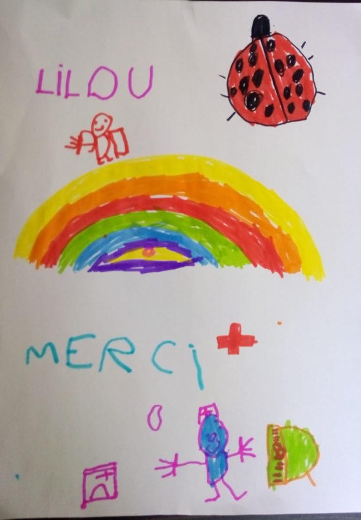 Un dessin pour dire merci - Lilou (4ans) en MS