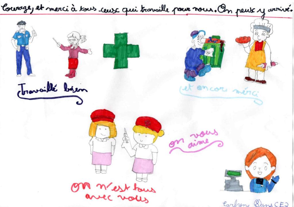 Un dessin pour dire merci - Carlyne - CE2
