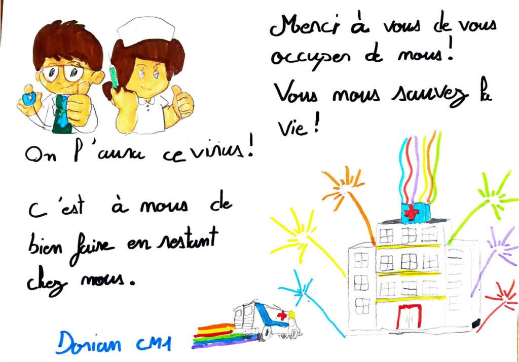 Un dessin pour dire merci - Dorian (CM1)