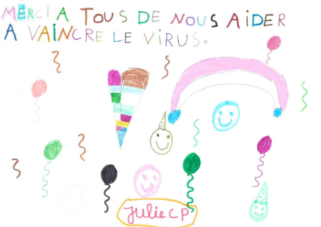 Un dessin pour dire merci - Julie - CP