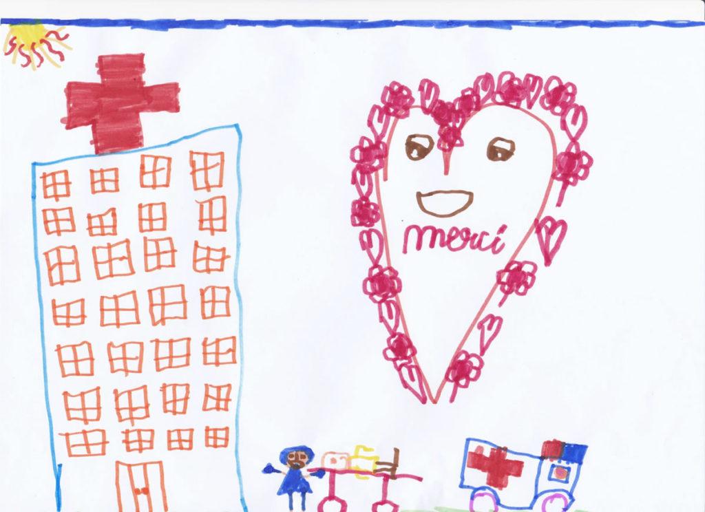 Un dessin pour dire merci - Mathéo (8 ans)