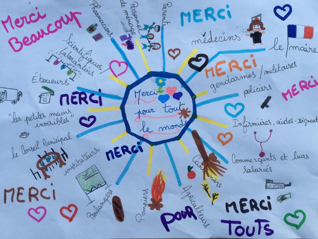 Un dessin pour dire merci - Maxime D. - CM2