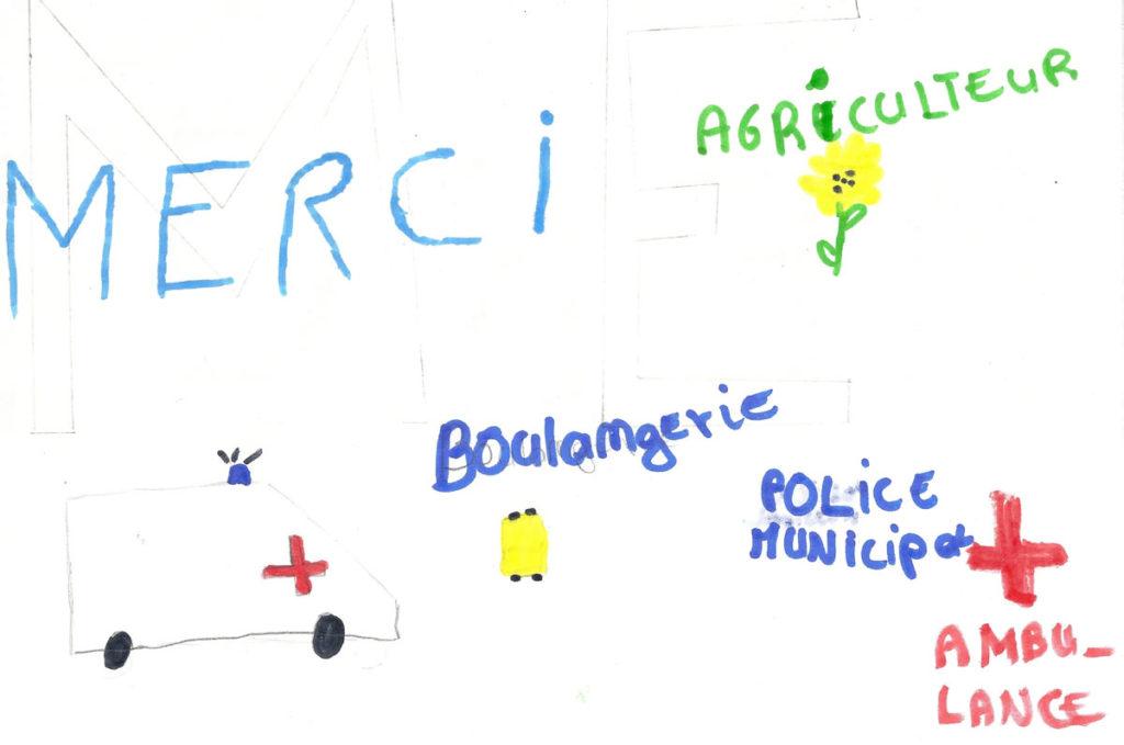 Un dessin pour dire merci - Romain