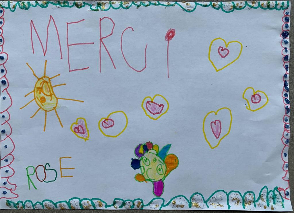 Un dessin pour dire merci - Rose - 4 ans (MS)