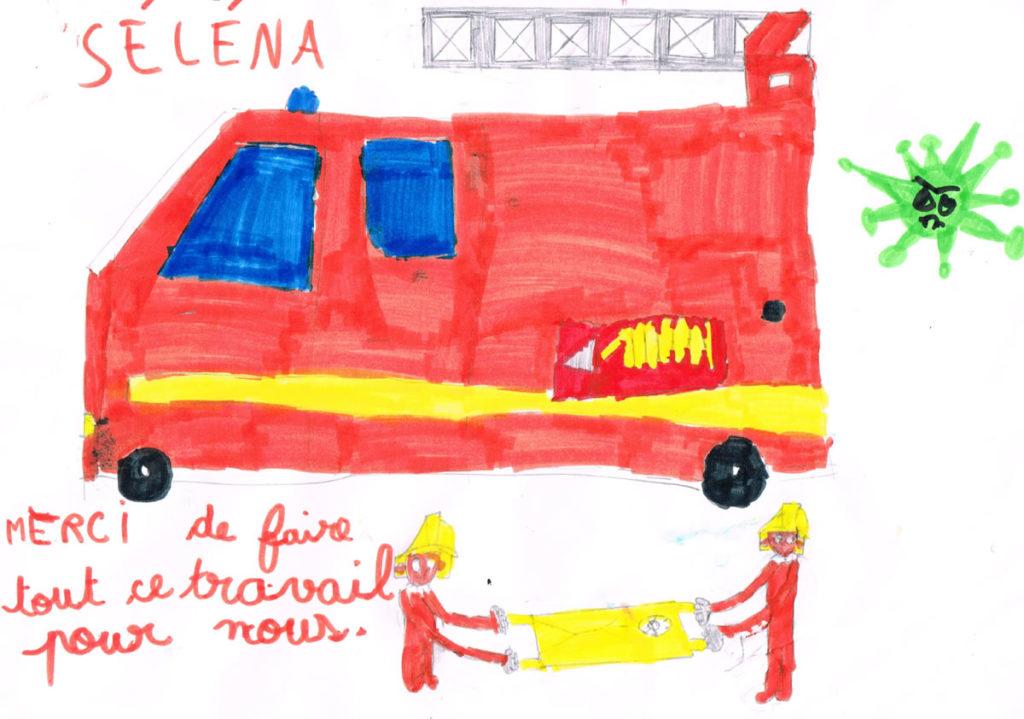 Un dessin pour dire merci - Séléna - CP