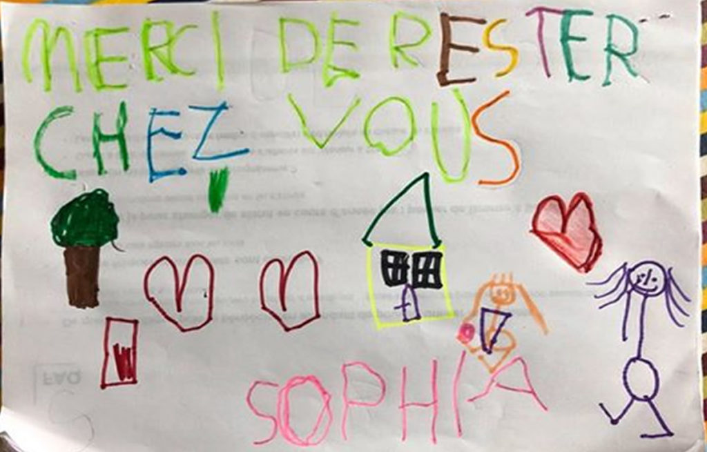 Un dessin pour dire merci - Sophia (MS)