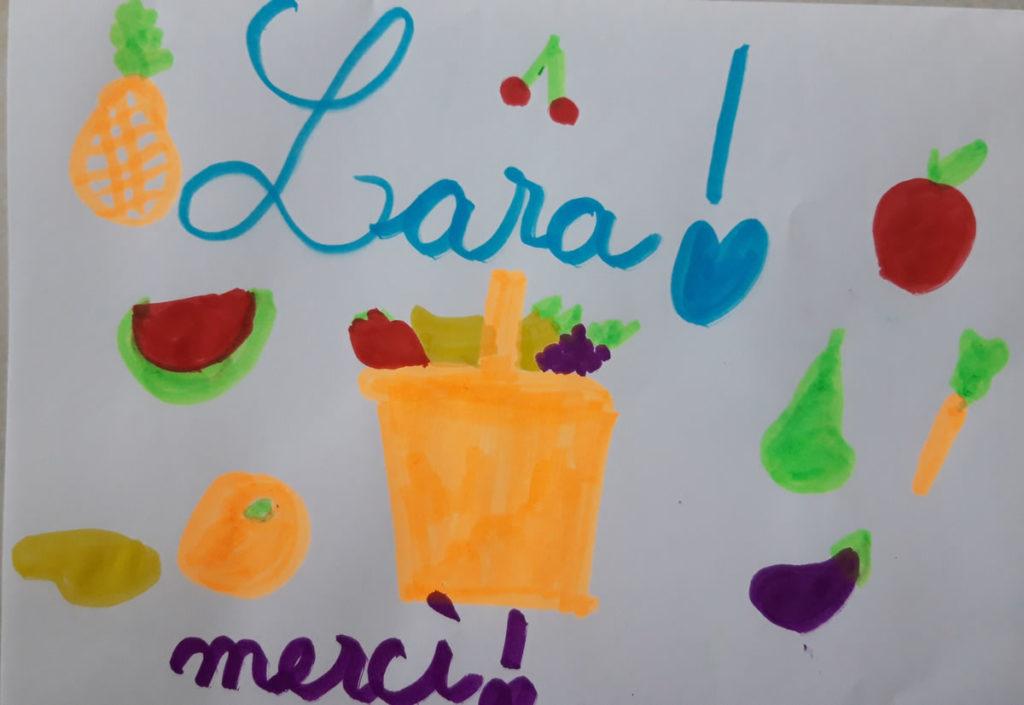 Un dessin pour dire merci - Lara