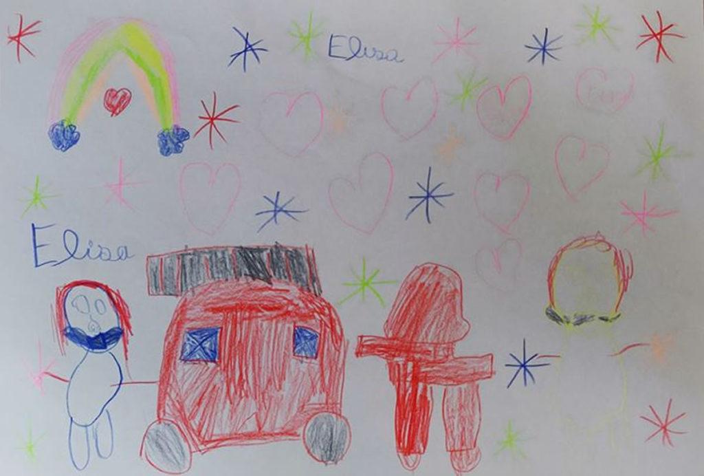 Un dessin pour dire merci - Elisa (GS)