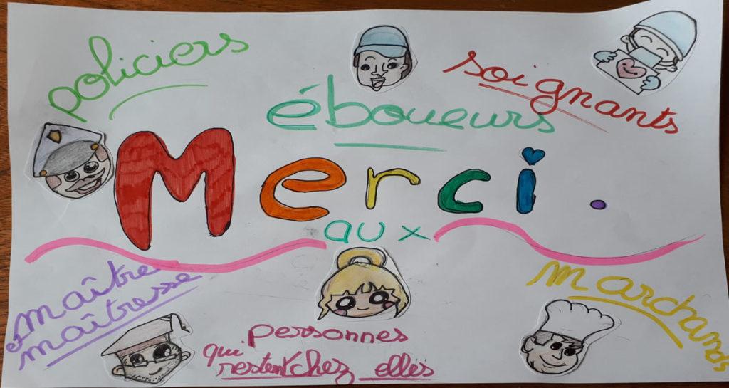 Un dessin pour dire merci - Lucie - CM2