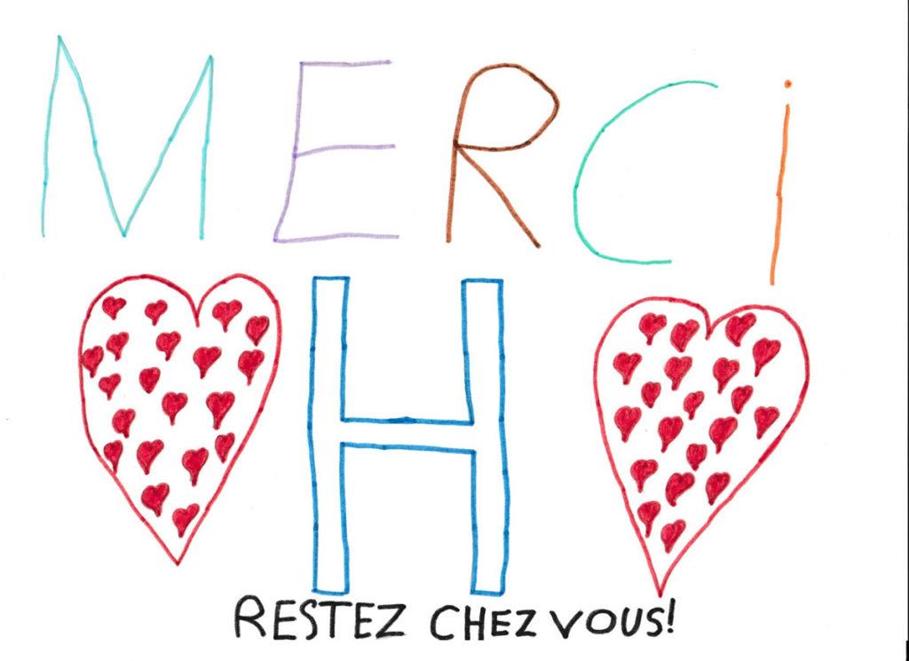 Un dessin pour dire merci - Vincent - CM2