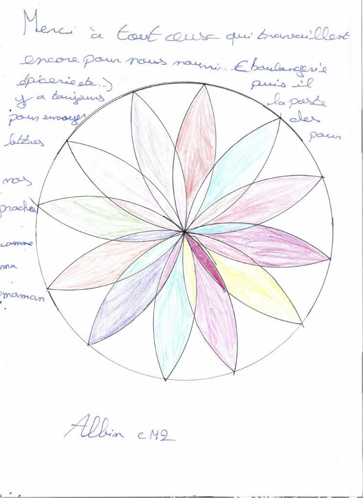 Un dessin pour dire merci - Albin (CM2)