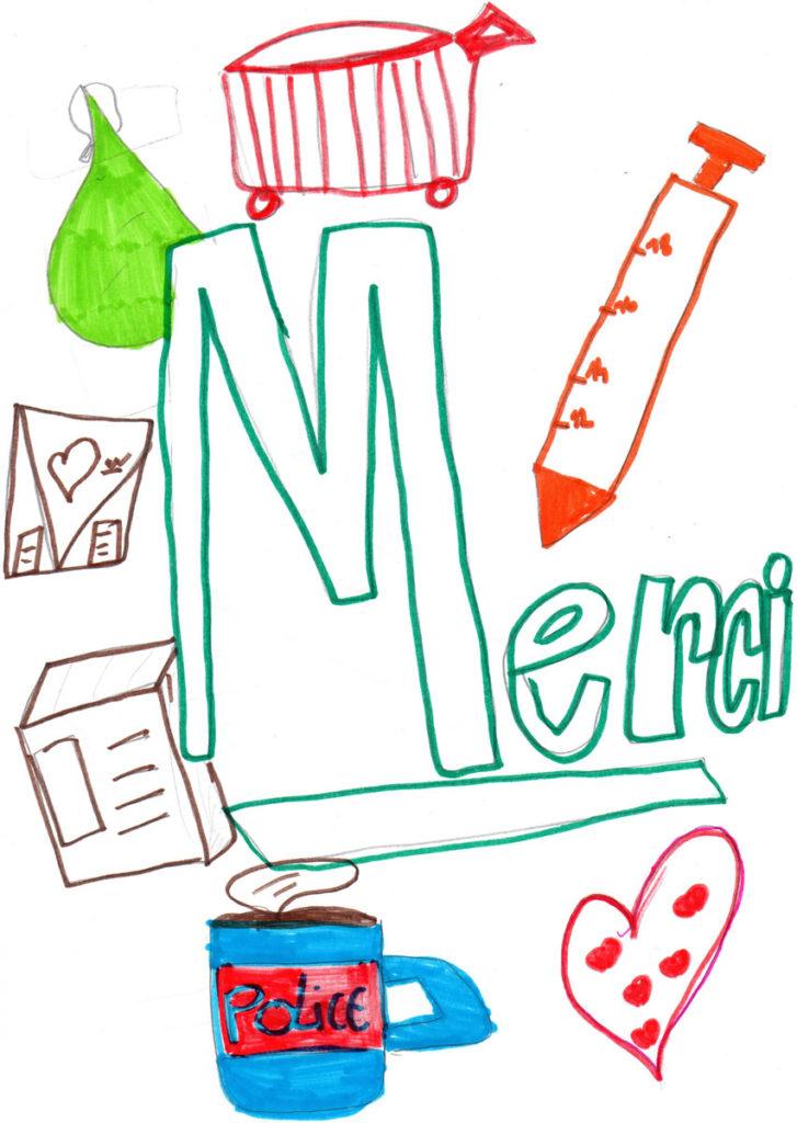 Un dessin pour dire merci - Léna (CM2)