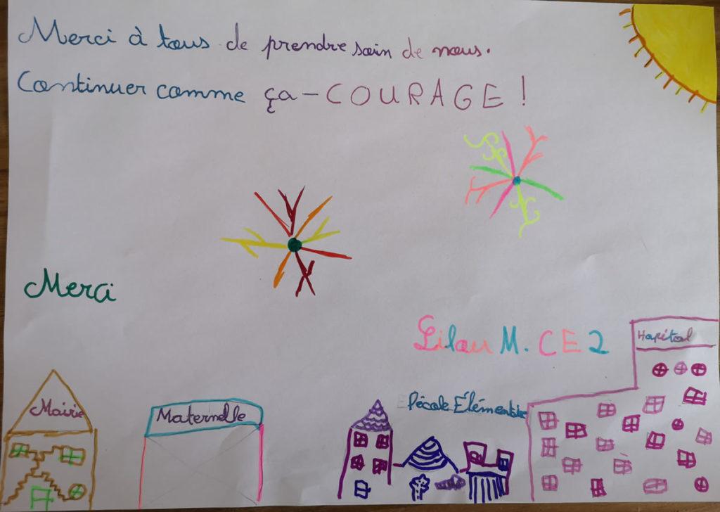 Un dessin pour dire merci - Lilou (CE2)