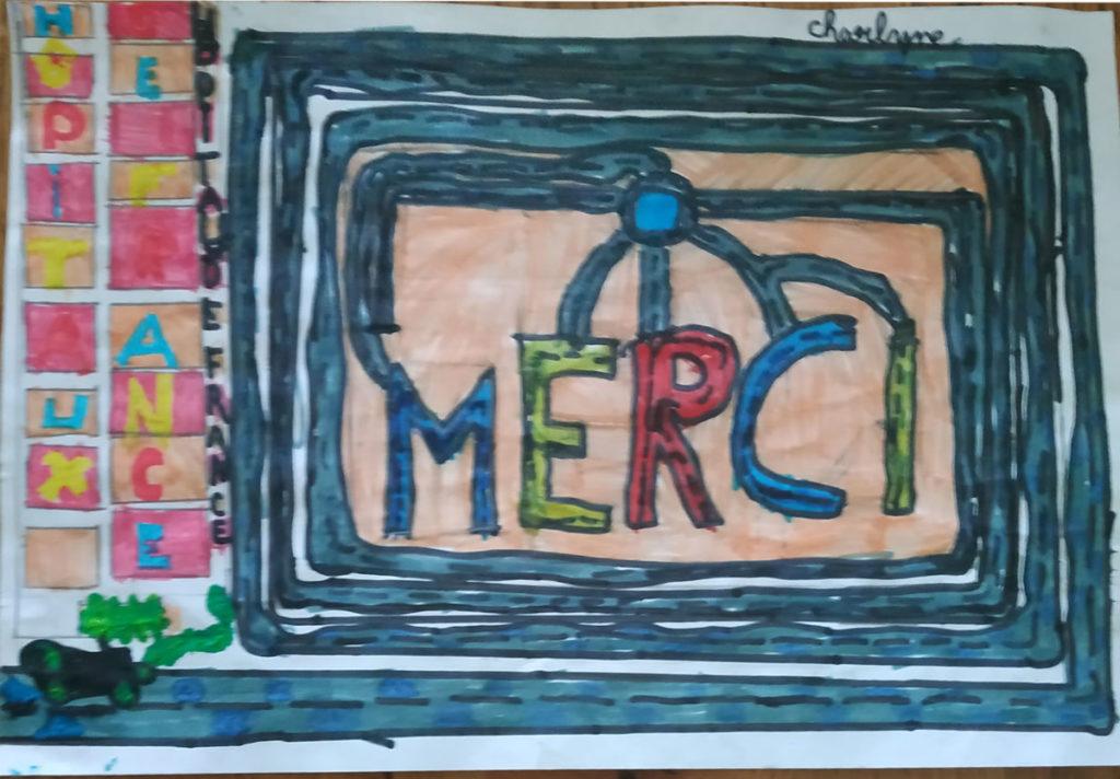 Un dessin pour dire merci - Charlyne (CE1)