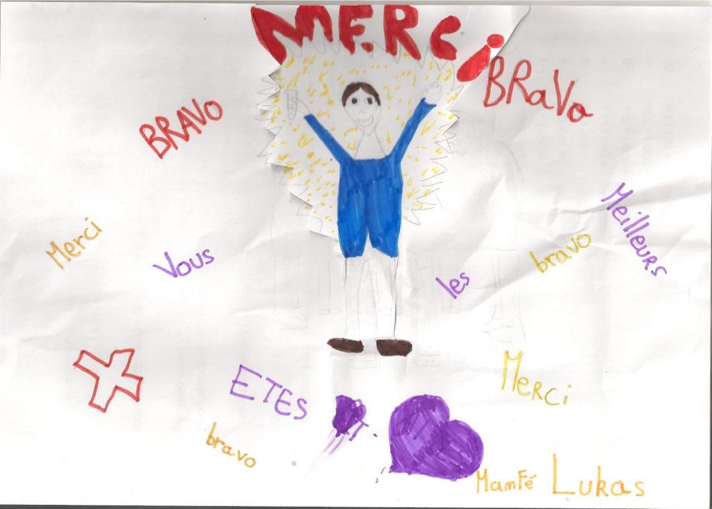 Un dessin pour dire merci - Lukas