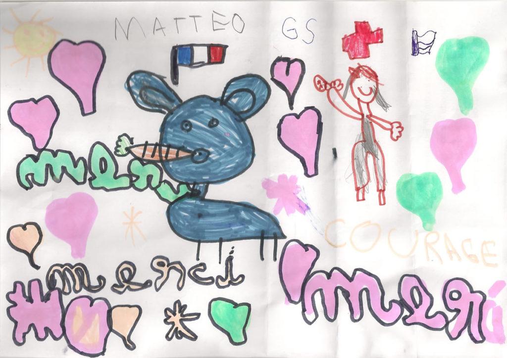 Un dessin pour dire merci - Mattéo (GS)