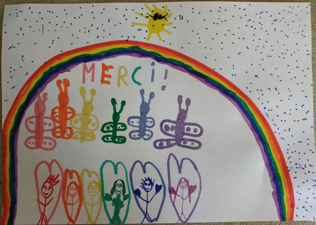 Un dessin pour dire merci - Gabrielle (CE1)