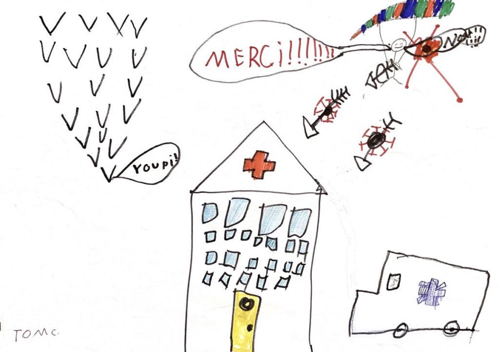 Un dessin pour dire merci - Tom (CE1)