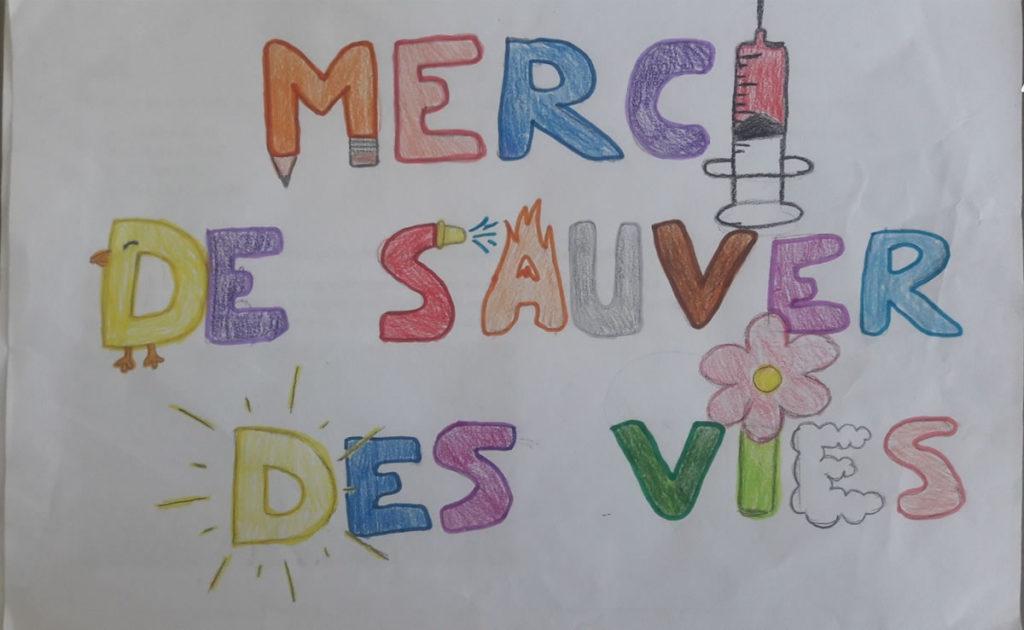 Un dessin pour dire merci - Amalia (CM2)