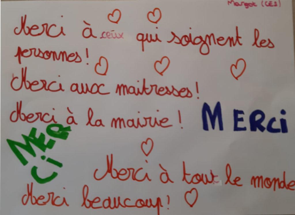 Un dessin pour dire merci - Margot (CE2)