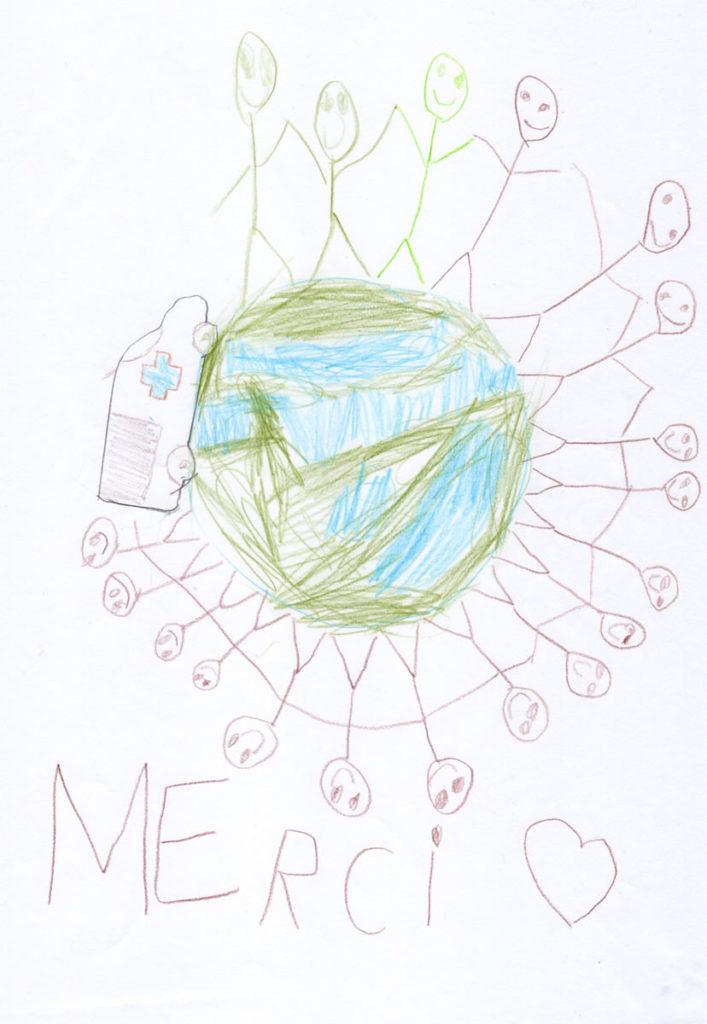 Un dessin pour dire merci - Ethan (CP)
