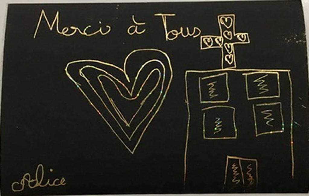 Un dessin pour dire merci - Alice (CE2)
