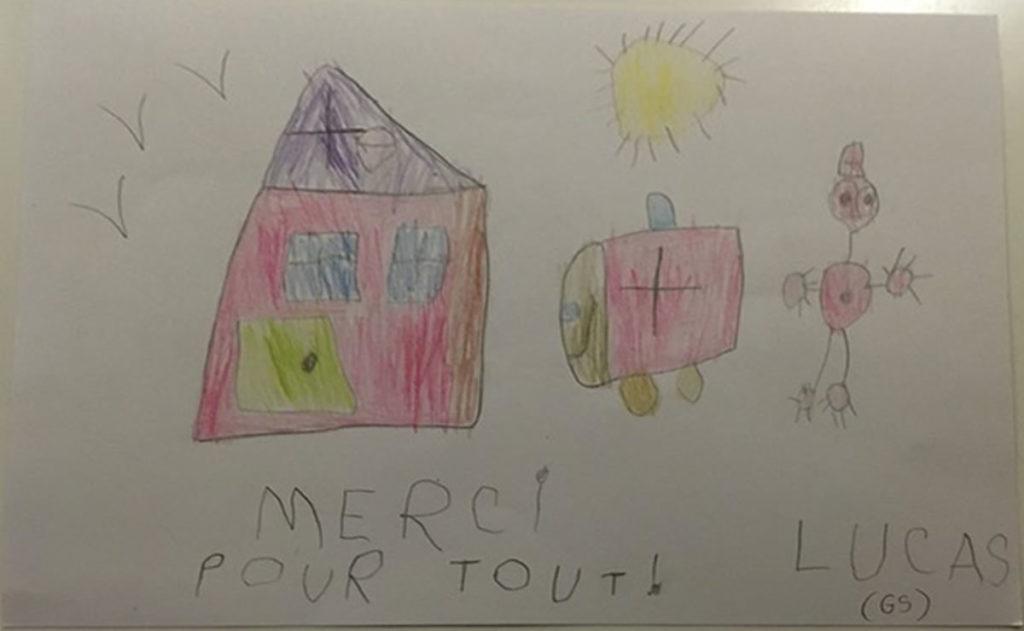 Un dessin pour dire merci - Lucas (GS)