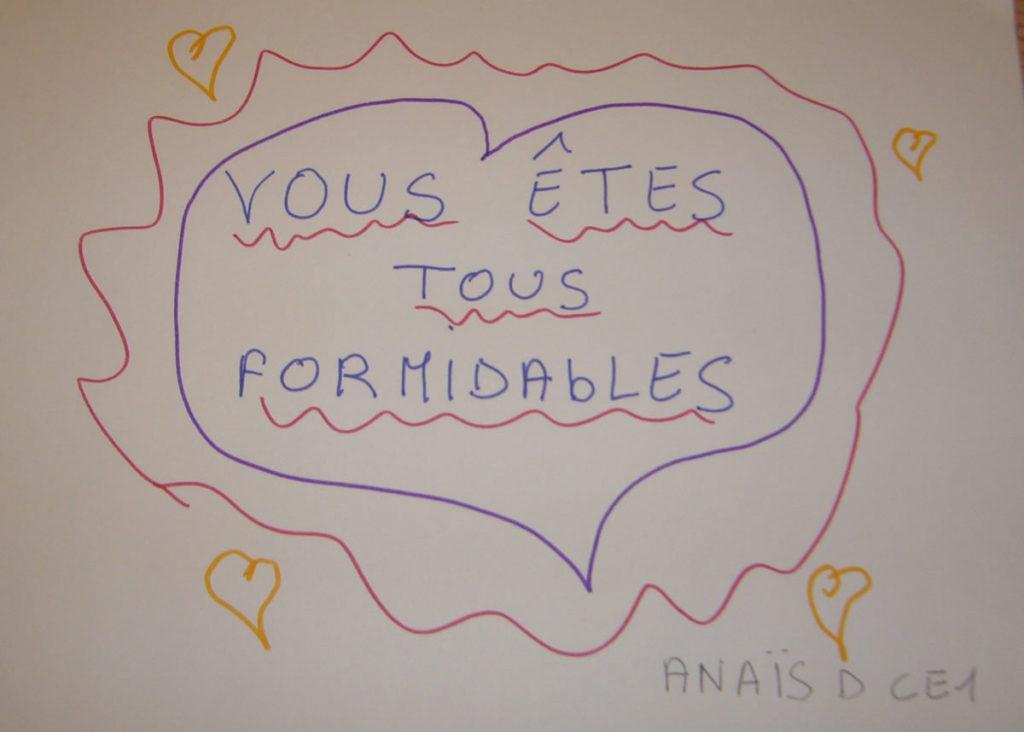 Un dessin pour dire merci - Anaïs (CE1)