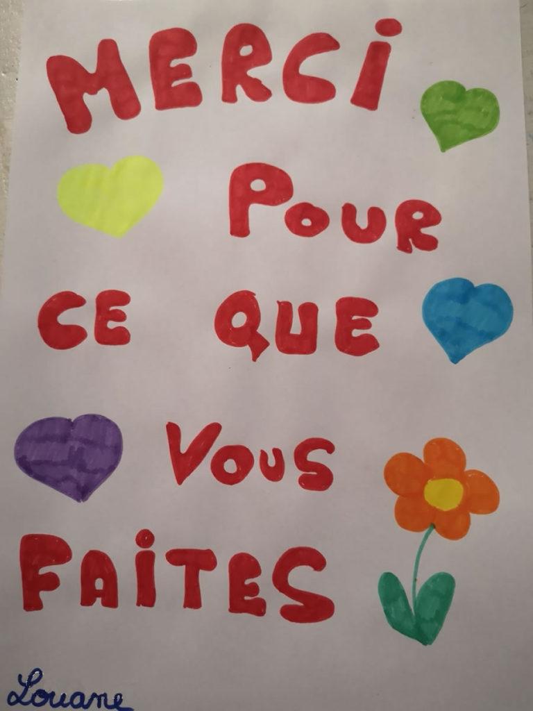 Un dessin pour dire merci - Louane (CM2)