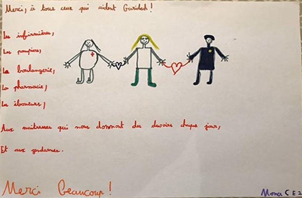Un dessin pour dire merci - Mona (CE2)