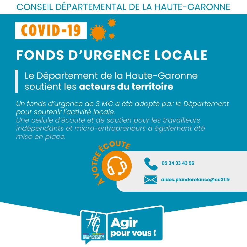 CD31 - Fonds d'urgence locale - COVID-19