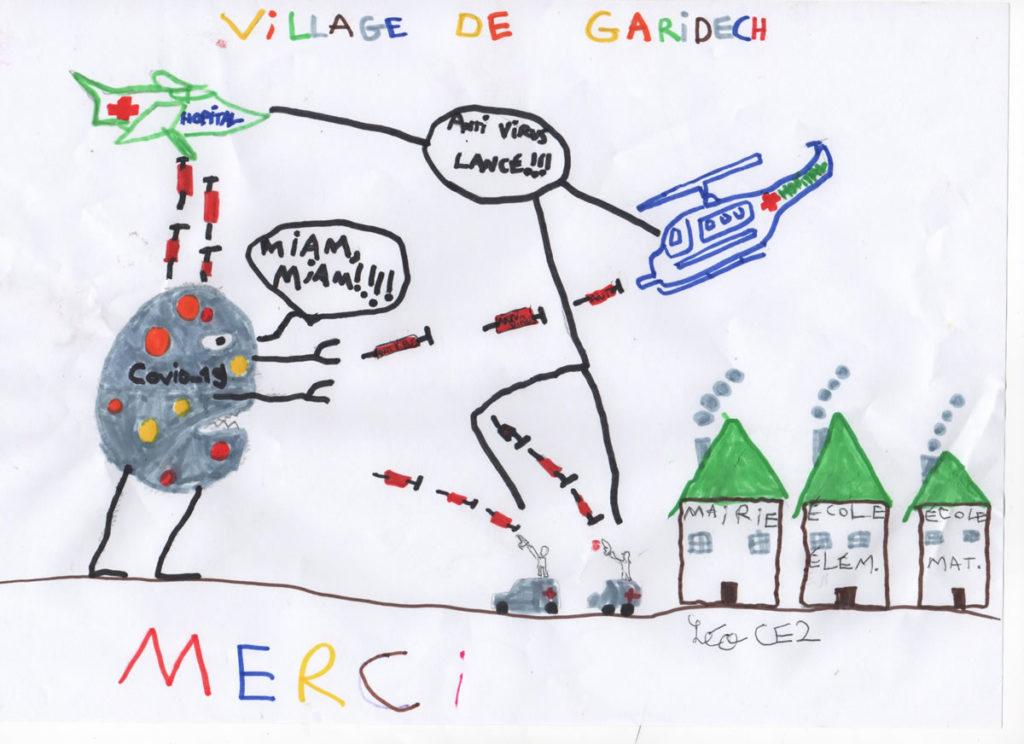 Un dessin pour dire merci - Léo (CE2)