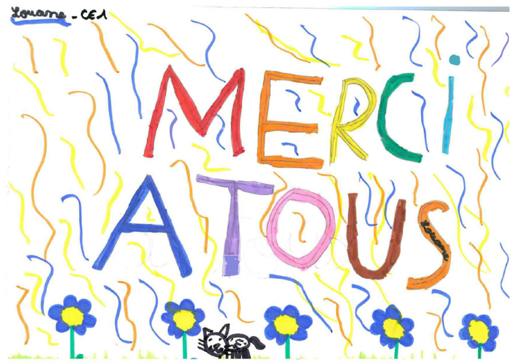 Un dessin pour dire merci - Louane (CE1)