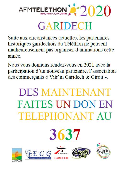 TELETHON GARIDECH 2020