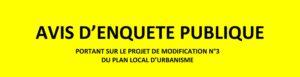 Enquête Publique Plan Local d'Urbanisme